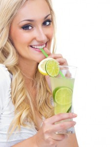 Girl drinking alcohol.